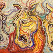 Caballos / Óleo sobre lienzo / 65 x 120 cm / 2011 / Vendido