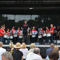 Auftritt der Drumband des Fanfaren- und Spielmannszug der Stadt Büdingen e.V.