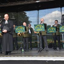 Ökumenischer Gottesdienst durch Herrn Pfarrer Dietmar Diefenbach und mit musikalischer Begleitung durch das Parforcehorncorps Nidda e.V.
