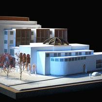 Centre culturel, Bobigny - Présentation - Carton blanc - 1/500