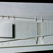 Centre culturel, Tunis - Collaboration pour TPFE - Carton blanc - 1/1000