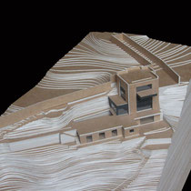 Résidence privée, Cap Ferrat - Présentation - Carton craft - 1/200