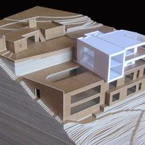 Villa Corniche, Cap Ferrat - Présentation - Carton craft - 1/200