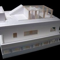Appartement sur 3 étages, Paris XVème - Etude - Carton blanc, balsa - 1/50