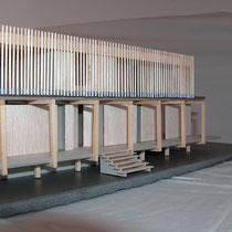Maison au Sénégal - Concours - Balsa, métal, carton gris - 1/200