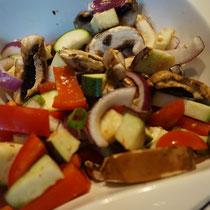 Feta Kaese mit Grill Gemuese aus dem Backofen - sommer leicht