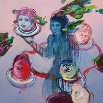 Kinderteller,Oil,100x100cm,2013