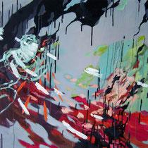 Black Drip, Oil, 150 x 180cm,2012