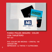Fundas PVC Publicidad GESTORIAS y SEGUROS