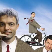 ich Ähnlichkeiten mit Mr. B....?????..../ Klar!  Der Anzug und die Fahrzeugmarke!!!