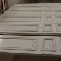 Mise en peinture après montage des portes