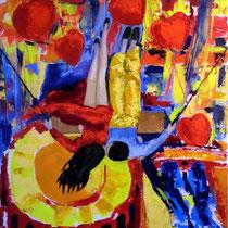 2012 - ... soprattutto Amore - olio a spatola su tela - 70x50 cm