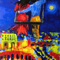 2012 - Verona è  ...  - olio a spatola su tela - 70x50 cm