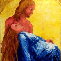 """2016 - """"PER-DONO"""" - olio a spatola su tela - 90x70 cm (ideato e dipinto nell'Anno Giubilare 2016)"""