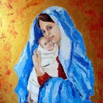 2011 - Mamma Celeste - olio su tavola - 50x40 cm