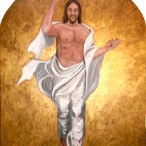 CRISTO RISORTO - olio su tavola - 120 x 90 cm - 2011
