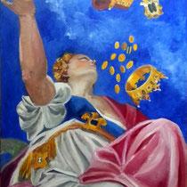 """""""GIUNONE VERSA DONI SU VENEZIA"""" - omaggio a Paolo Veronese - olio su tela - 80x60 - 2014"""