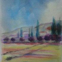 2011 - Aria di primavera - acquerello su carta 300 - 57x38 cm