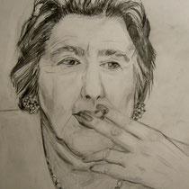 2010 - Alda - Omaggio ad Alda Merini - matita su carta - 30x21 cm