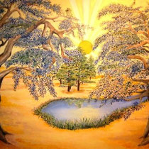 2008 - Alberi nel deserto (Dal Salmo 41, 17-20) - olio su tela - 50x60 cm - donato per iniziativa umanitaria