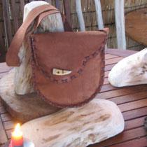 Besondere Waldtasche aus feinstem Wildleder  :-)