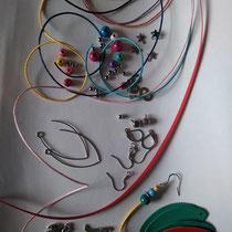 Différents composants pour la création de mes bijoux !