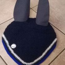 Bonnet bleu marine, liseré bleu roi, taille cheval (ref 95)