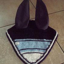 Bonnet bleu marine, bleu clair, blanc, taille cheval (ref 40)