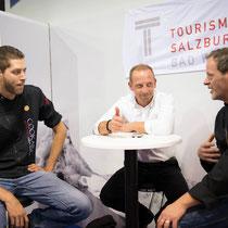 links: cookart south tyrol weltranglisten erster bei dem härstesten Jugendwettbewerb weltweit Urban Barbieri, links von mir cookart bavaria Elias Adrian Halletz - Gourmet Südtirol