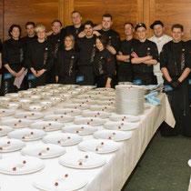 cookart internationale 20 Köpfige team kochte in Airport Club Frankfurt 6300€ Erlös ging an die Stiftung Bärenherz - Gourmet Südtirol