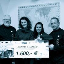 VON RECHTS Eberhard Seyffer COOKART ORG, Organisation Gotitas de Amor Lucia Nania COOKART ORG PRIND UND DESIGN und Martin  - Gourmet Südtirol