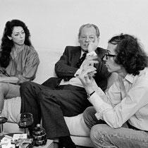 Altbundeskanzler Willy Brandt während eines Besuchs bei Christo und Jeanne-Claude, New York, 1981 // Foto: Wolfgang Volz