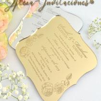 invitaciones impresas, invitaciones para boda, invitaciones para xv años, invitaciones para bautizos, invitaciones para cumpleaños, invitaciones para cualquier evento, invitaciones en encaje, Invitaciones en Aluminio