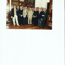 S. Galli con i colleghi di Palazzo Marina, tra i quali G. Imparato