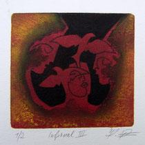 Carborundum-Radierung: Höllengespräche