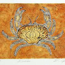 Carborundum-Radierung: Krabbe