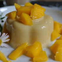 Kokosmousse mit frischer Mango ohne Gelatine