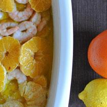 Garnelen mit Orangen aus dem Ofen: Nicht nur für Gäste