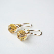Ohrringe Muranoglas, Gold Filled 14 K, handgefertigt, Blattgold, Lileauxfleurs Schmuck Hamburg