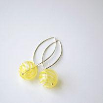 Ohrringe Muranoglas, Sterling Silber, mundgeblasen, Gelb, Lileauxfleurs Schmuck Hamburg