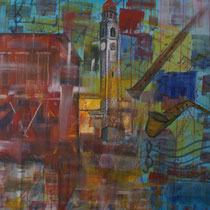 Ascona, 2014, Acrilico, 90 x 80 cm