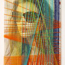 Ritratto di donna - Liu Jo, anno 2014, tecnica mista su tela, misure 30 x 40 cm