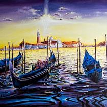 Luci e Colori a Venezia 2015, acrilico su tela, cm 70x50.