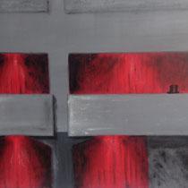 Teatro Massimo, 2013, acrilico su tela, 60x100