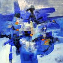Acqua, 2006 mista su tela cm.100x100