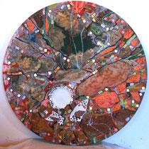Fragmentum 4, 2012, tecnica mista, 60x60 cm