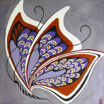 Exotic Butterfly, 60x60x1,5 cm