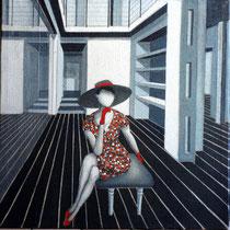 CHARME, 2015, acrilico su juta, 80 x 80 cm