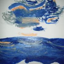 Mer, 2016, olio, 50x60 cm