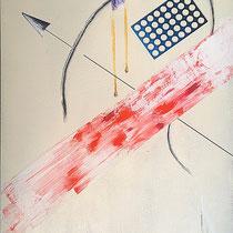 Siderale Z ua - 2014 - vernice, olio, stucco, pennarello  cm.50x70 su tela